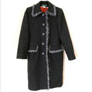Women's SZ 4 Small 100% Wool Coat Knee Length Long